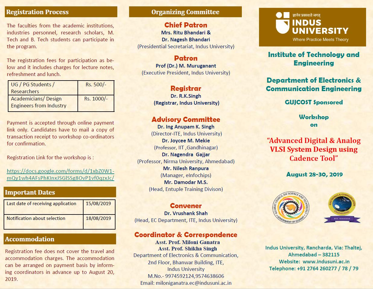 Department of Electronics & Communication Engineering - Indus University